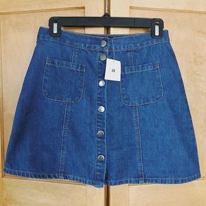 NEW urban button skirt